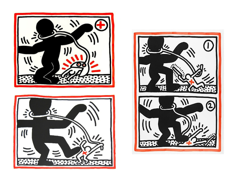 Free South Africa by Keith Haring