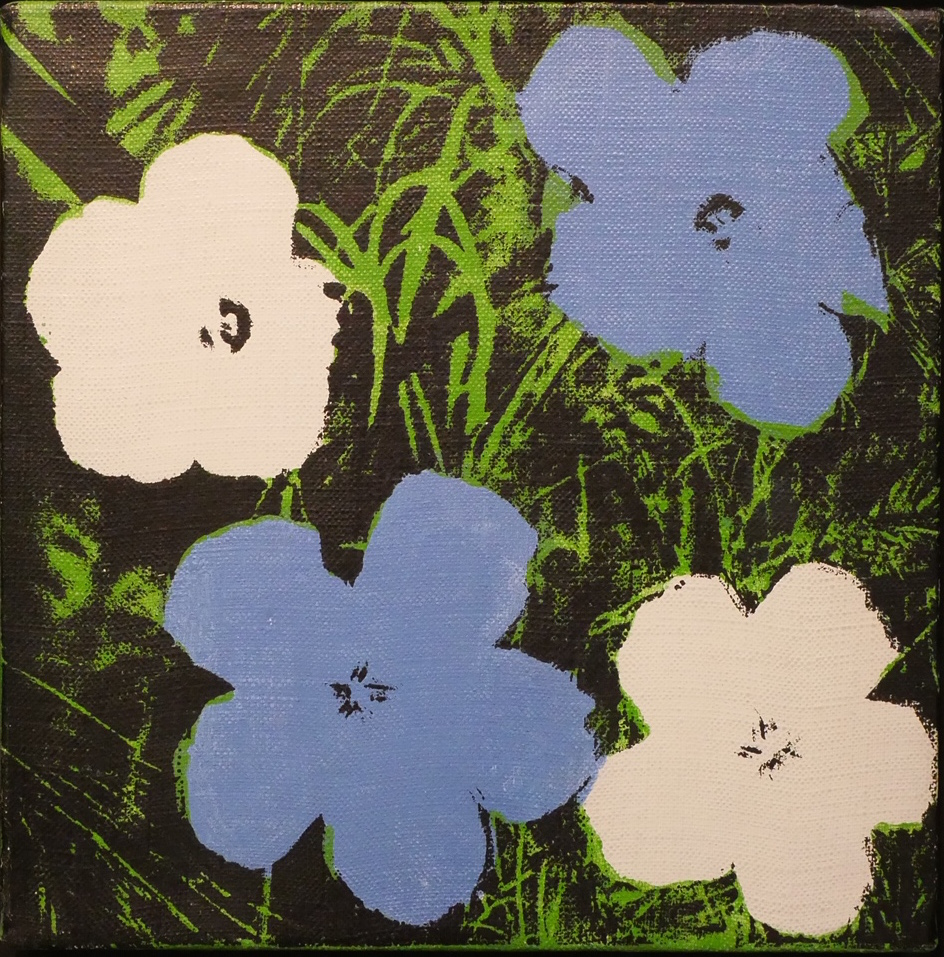 Blue and White Flowers by Andy Warhol