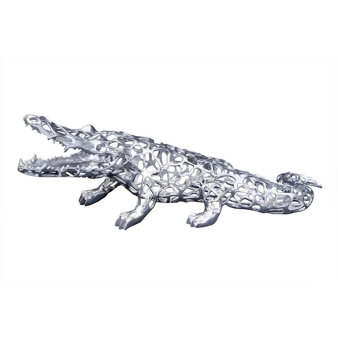 Laced Crocodile by Richard Orlinski