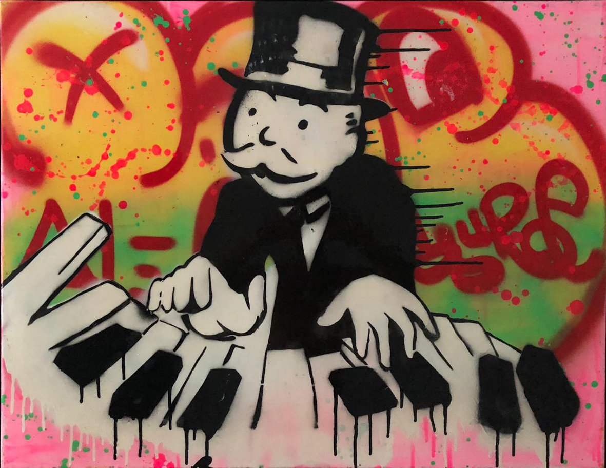 Piano Monopoly (Colorful) by Alec Monopoly