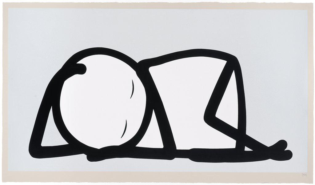 Sleeping Baby (Silver) by STIK