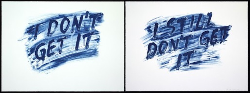 I Don't Get It/I Still Don't Get It by Mel Bochner