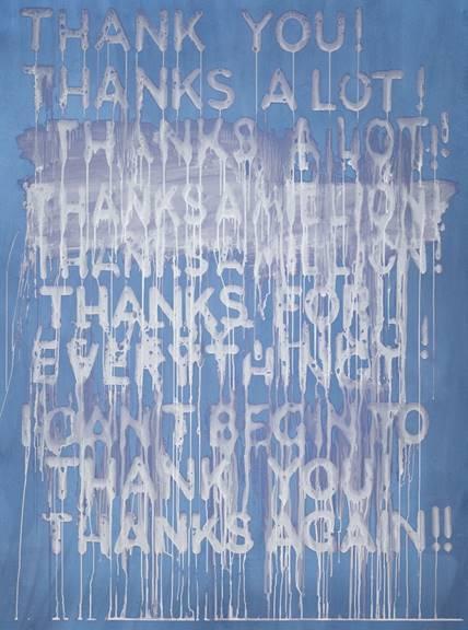 Thank You by Mel Bochner