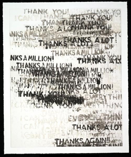 Thank You (black adn white) by Mel Bochner