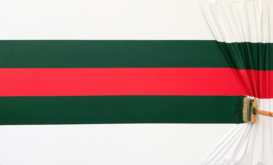 Brosse arretée red & green by Jean-Paul Donadini