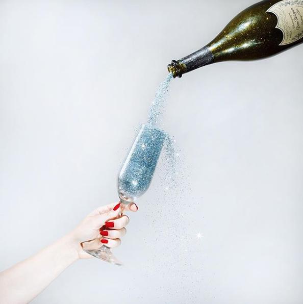 Glitter Champagne by Tyler Shields