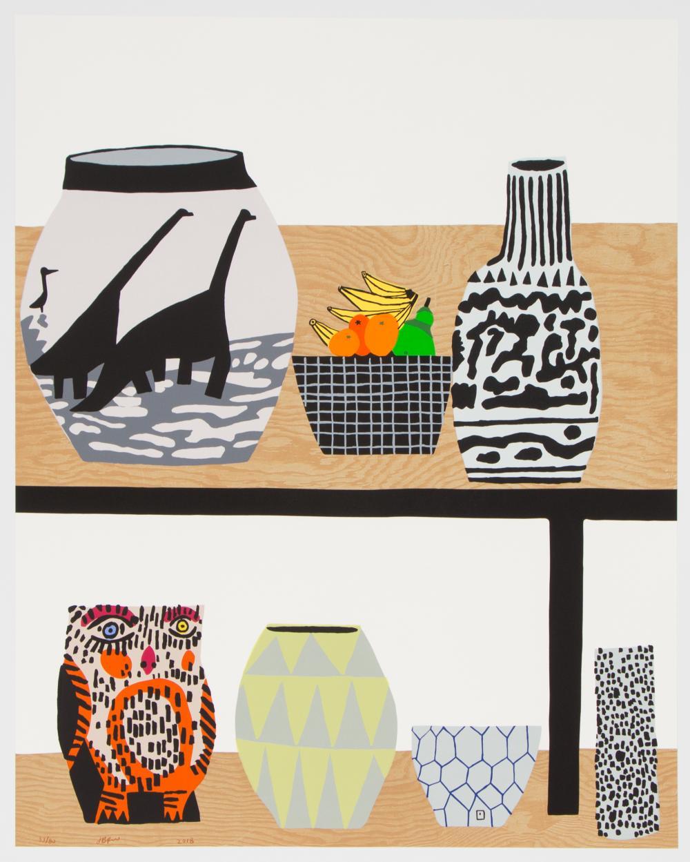 Shelf Still Life By Jonas Wood