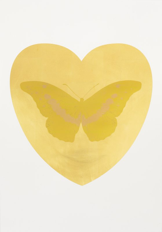 I Love You (Gold leaf, oriental gold, cool gold) by Damien Hirst