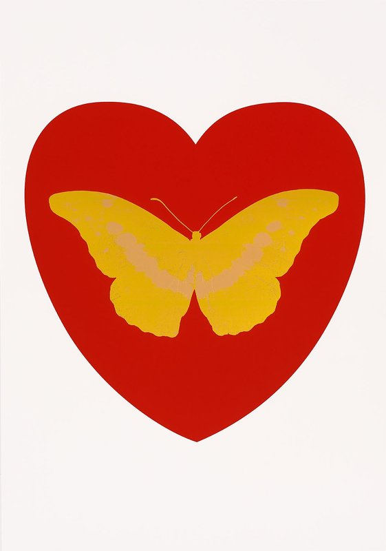 I Love You (Red, Oriental Gold, Cool Gold) by Damien Hirst
