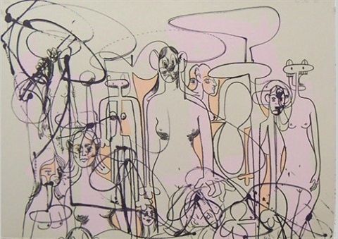 Line of Figures by George Condo