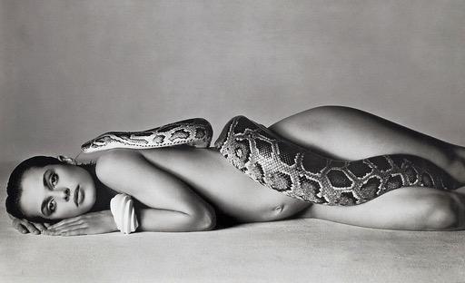 Nastassja Kinski with Serpent by Richard Avedon