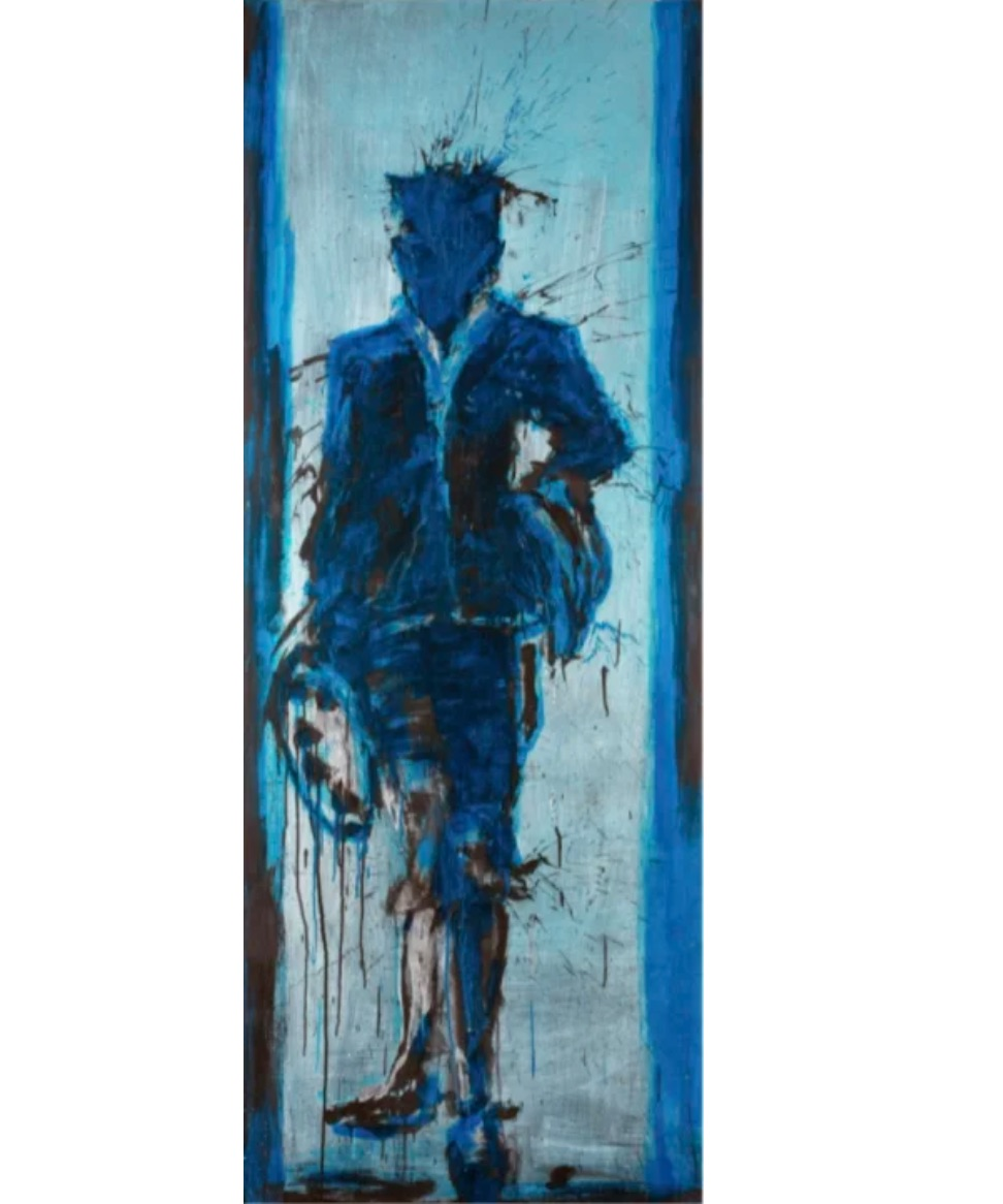 Blue Standing Shadow, 2015 by Richard Hambleton