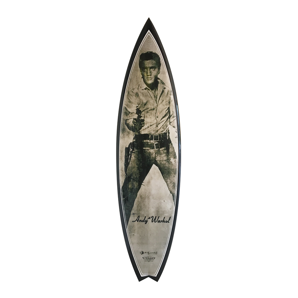 Elvis Surfboard (Carbon) by Andy Warhol