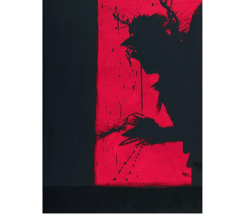 Red Shadow Head, 2015 by Richard Hambleton