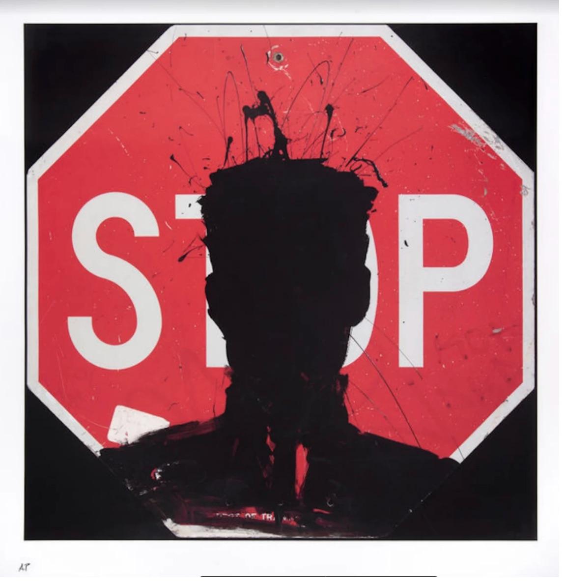 Stop Sign, 2018 by Richard Hambleton