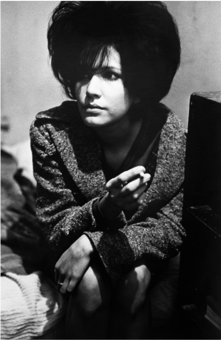 Untitled (Girl With Cigarette) by Larry Clark