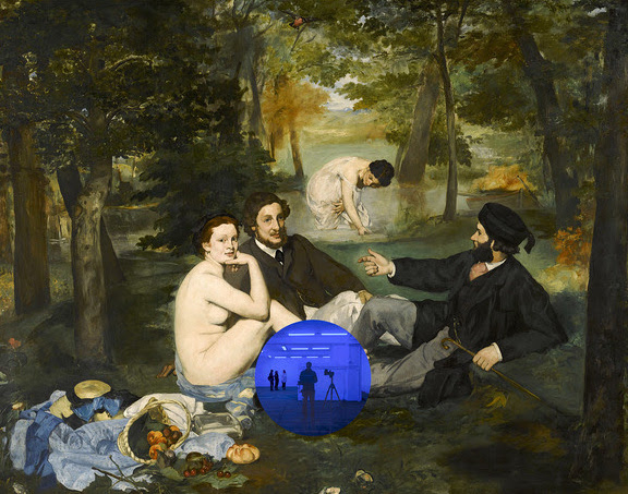 Gazing Ball (Manet Luncheon on the Grass) by Jeff Koons