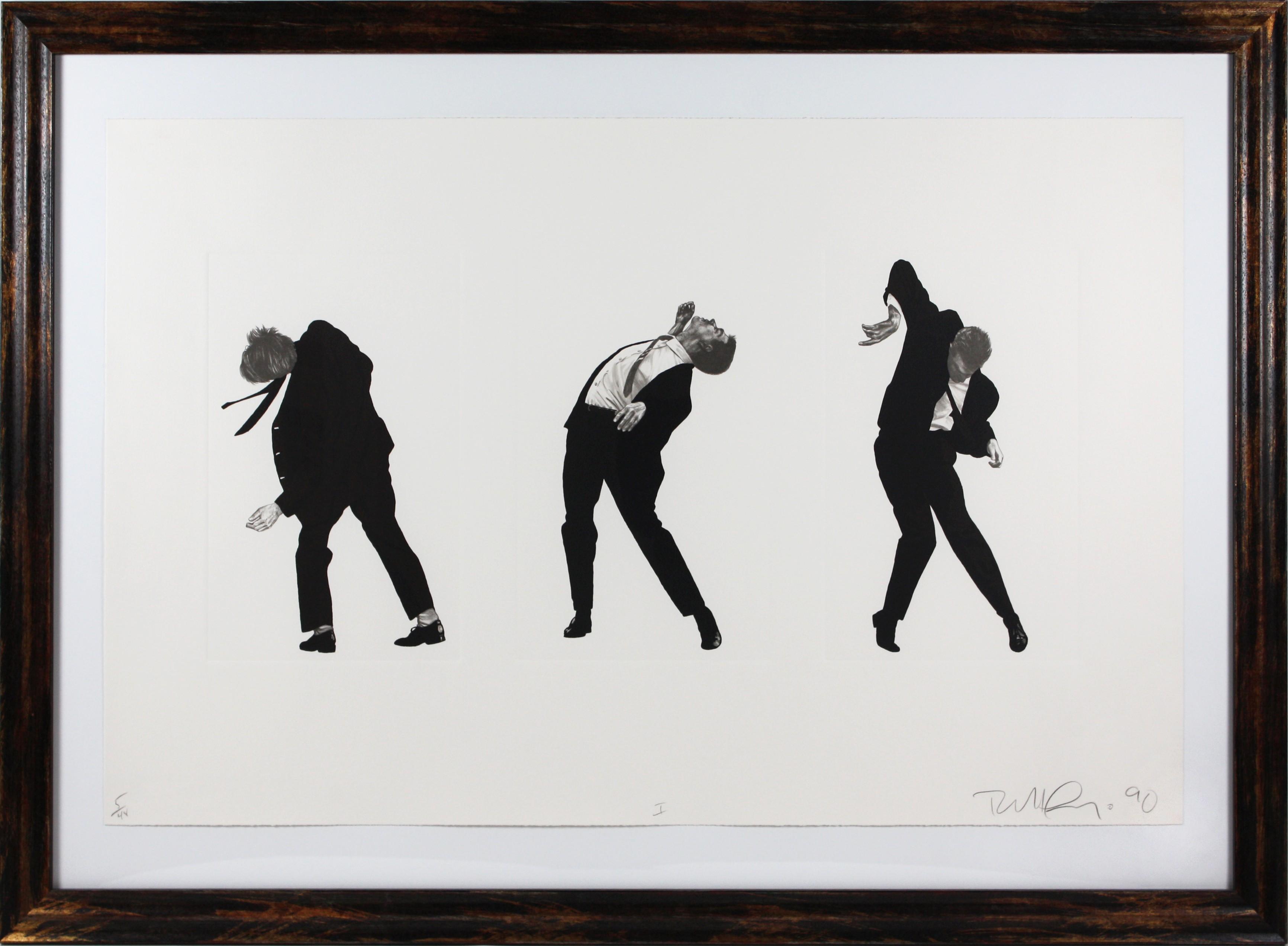 """Men in the Cities, 1990 """"I"""" by Robert Longo"""