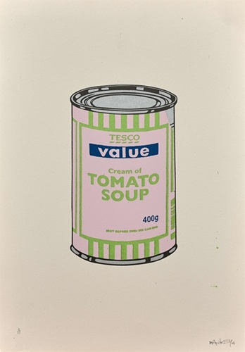 Soup Can (Pale Lilac/Lime/Dark Blue) By Banksy