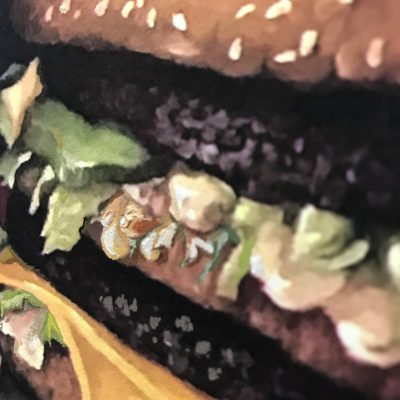 Calorie Composition I Hold the Onions, with Honey Mustard Sauce by Dave Pollot Detail 3