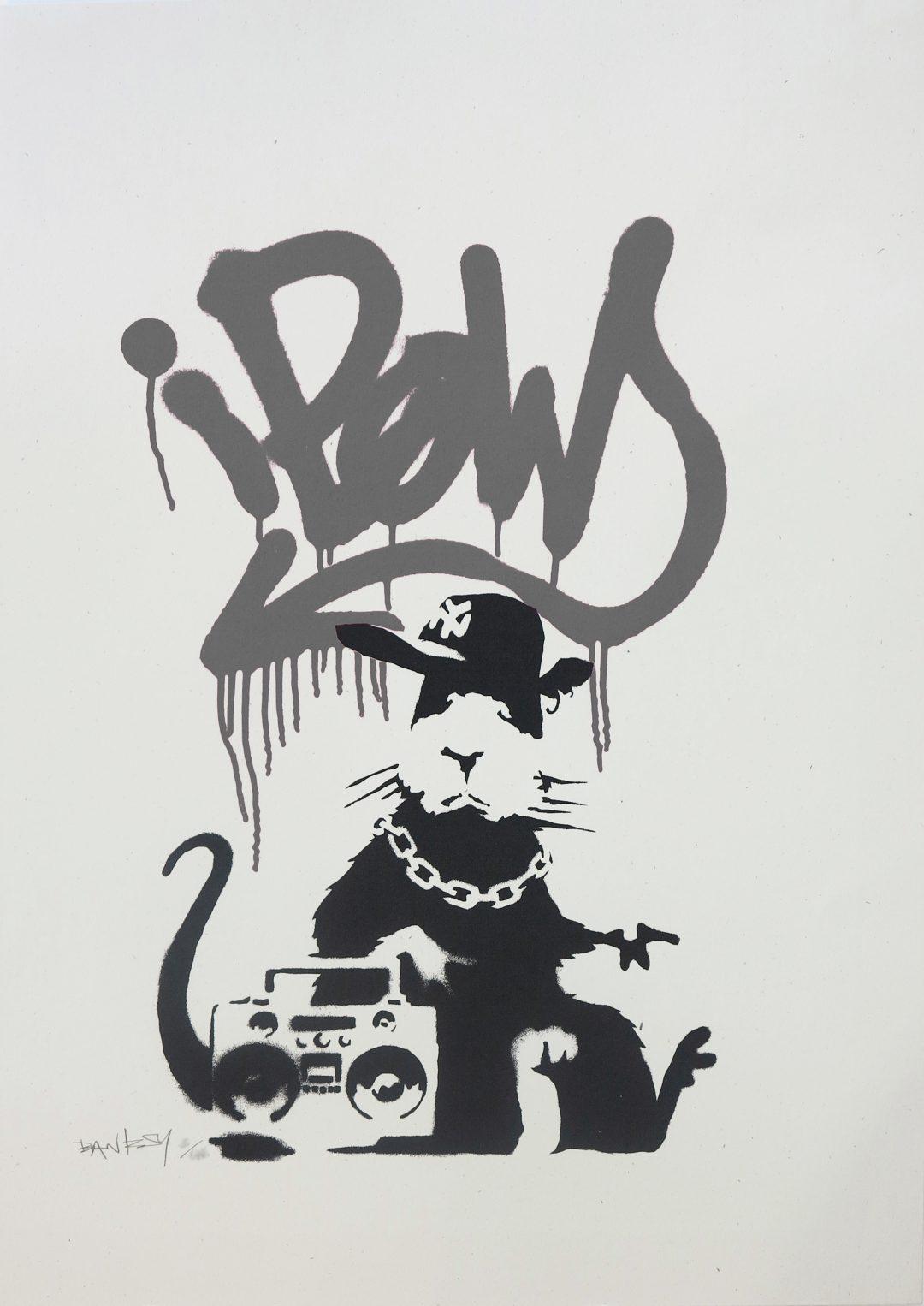 Gangsta Rat (Grey) by Banksy