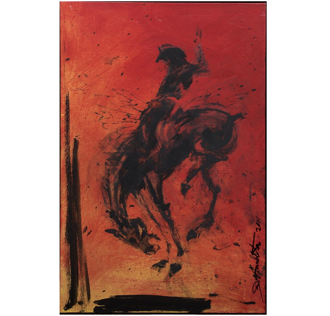 Horse and Rider (Red) by Richard Hambleton