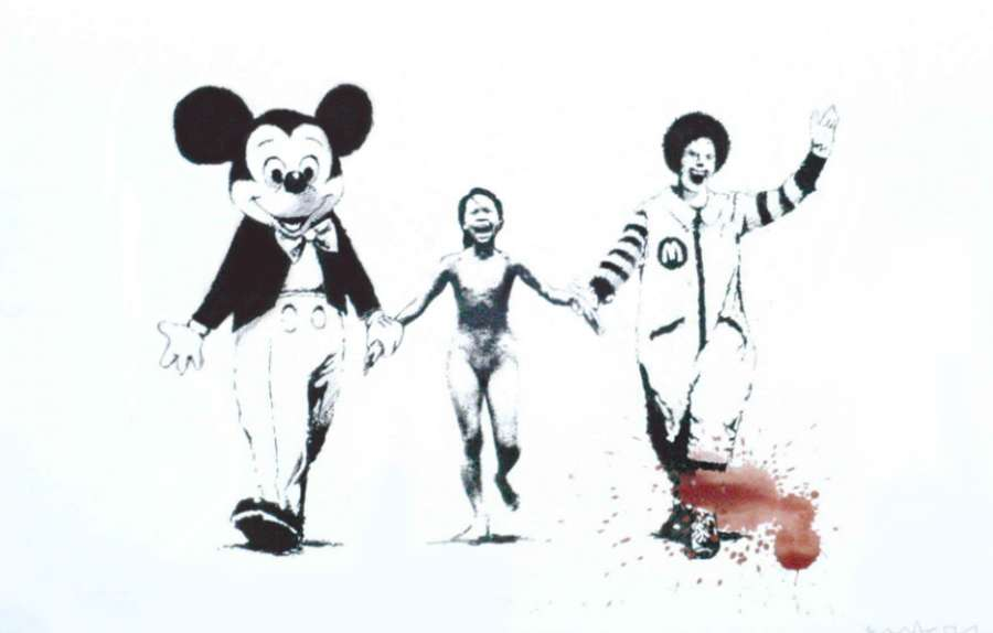 Napalm (Can't Beat the Feeling) (White) by Banksy