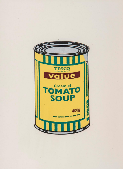 Soup Can (Yellow/Emerald/Brown) by Banksy