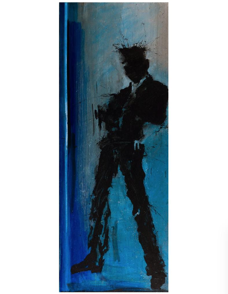 Standing Shadow (Blue) by Richard Hambleton