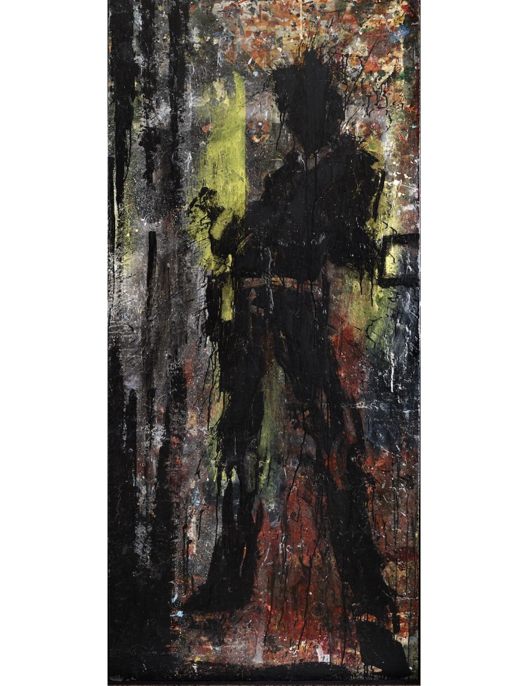 Standing Shadow (Yelow and Red) by Richard Hambleton