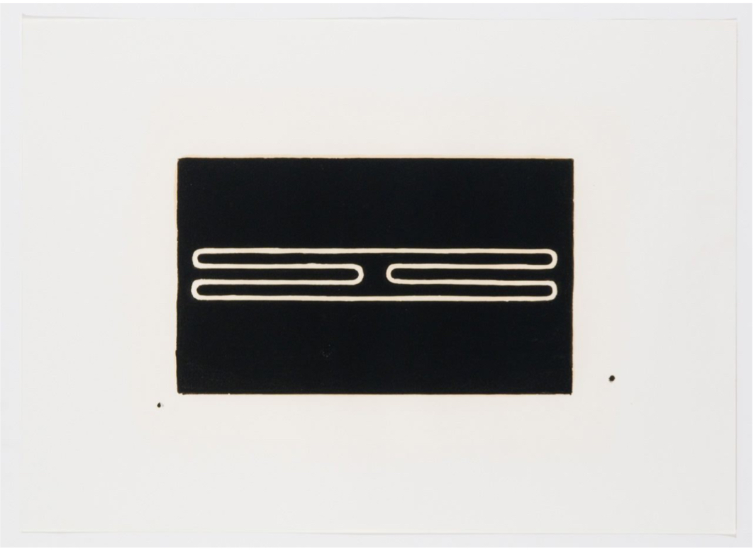 Untitled (Print G) by Donald Judd
