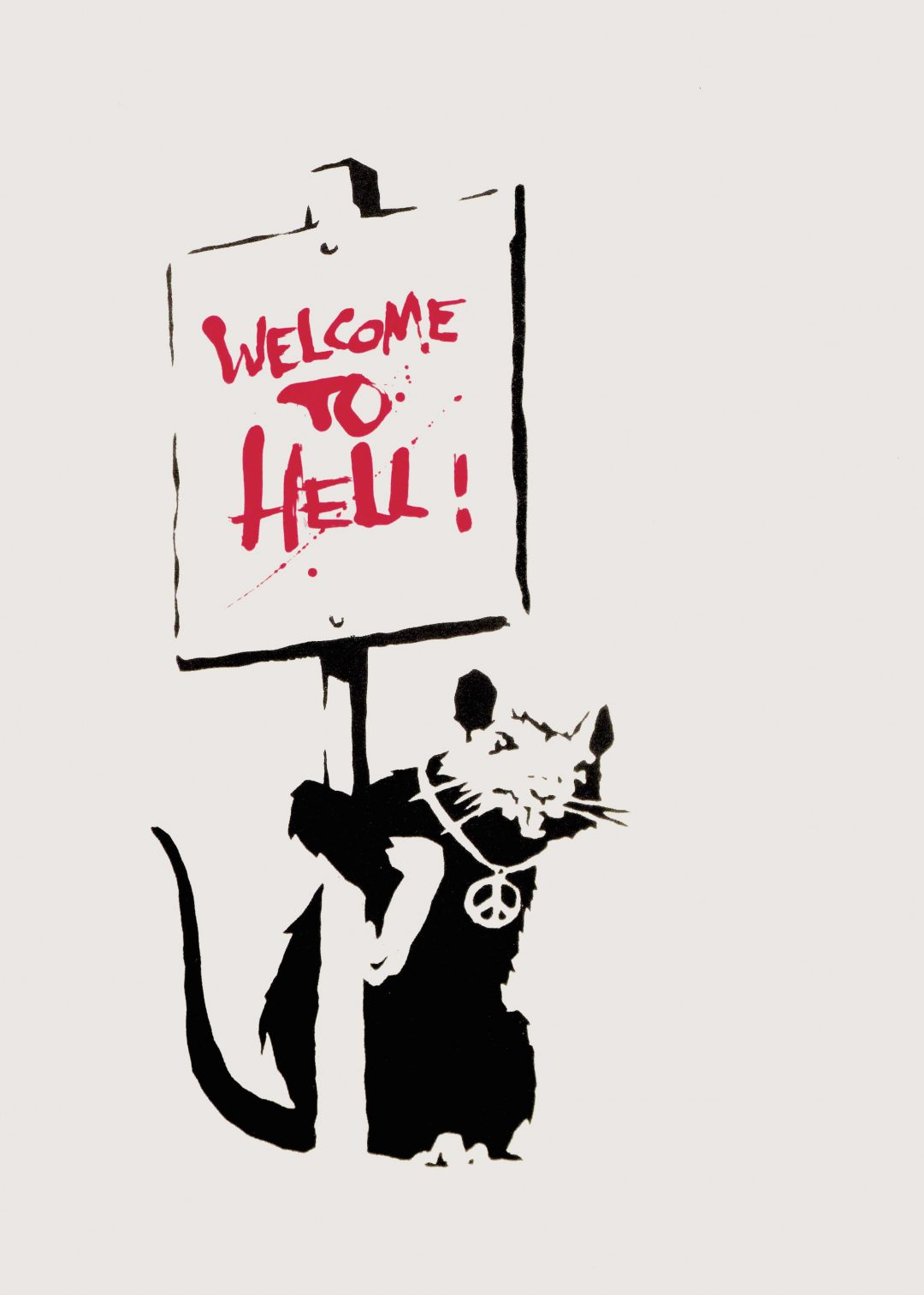 Welcome to Hell (Red) by Banksy
