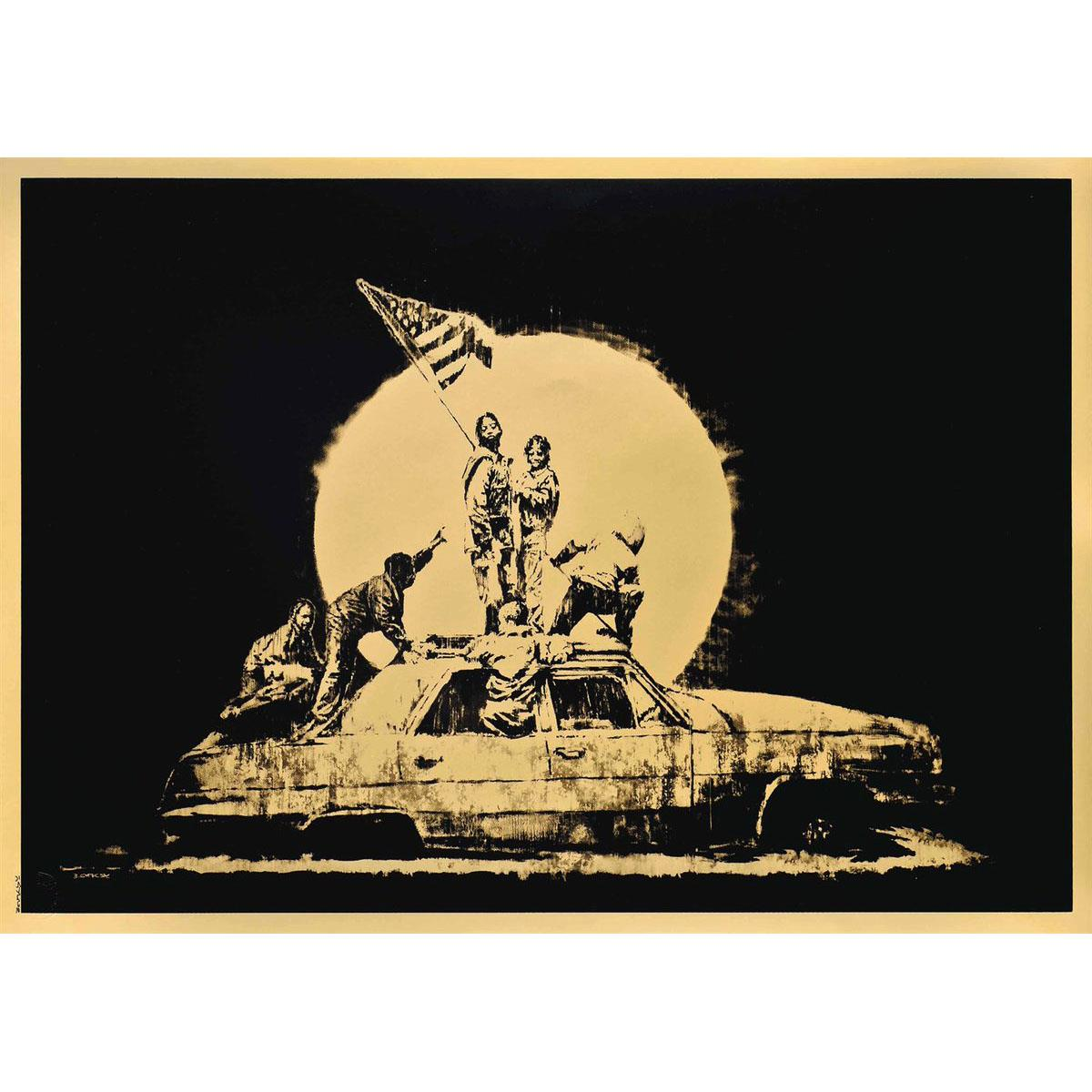 Flag (Gold) by Banksy