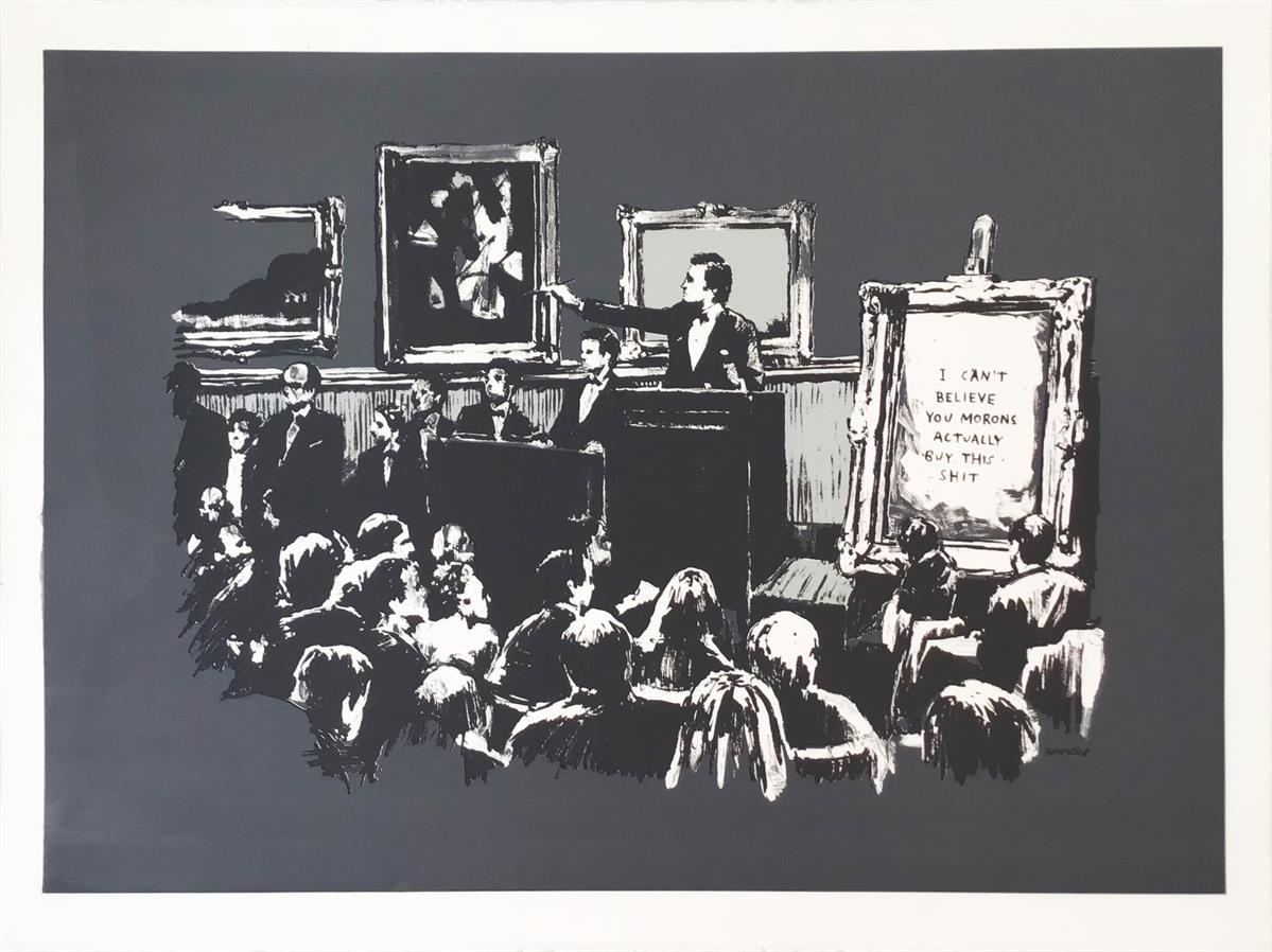Morons (Grey) by Banksy