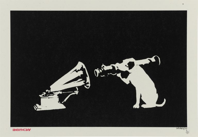 HMV (His Masters Voice) by Banksy