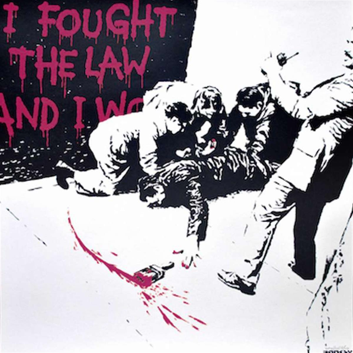 I Fought the Law (Pink) by Banksy