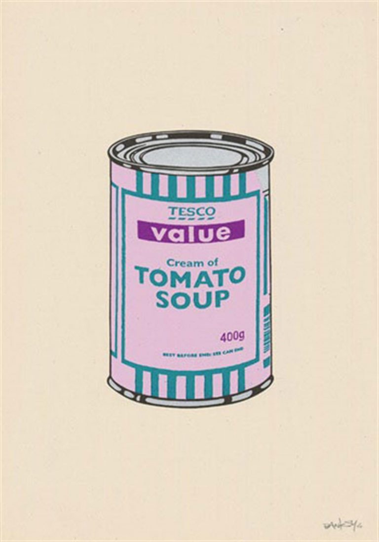 Soup Can (Lilac/Emerald/Purple) By Banksy