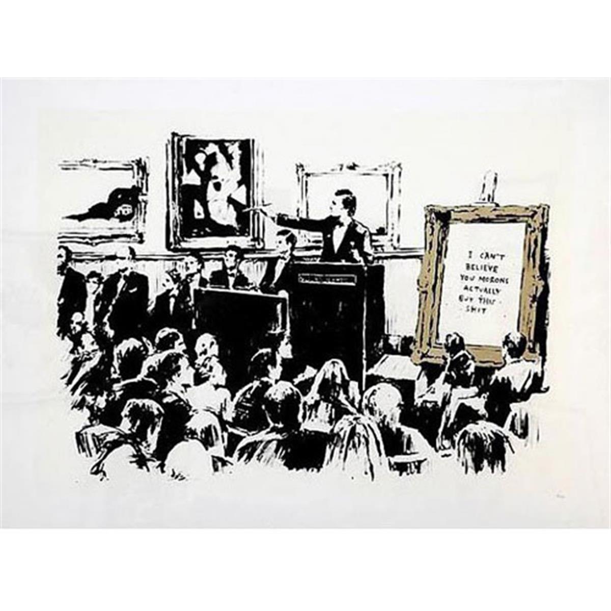 Morons (LA Edition Sepia) by Banksy