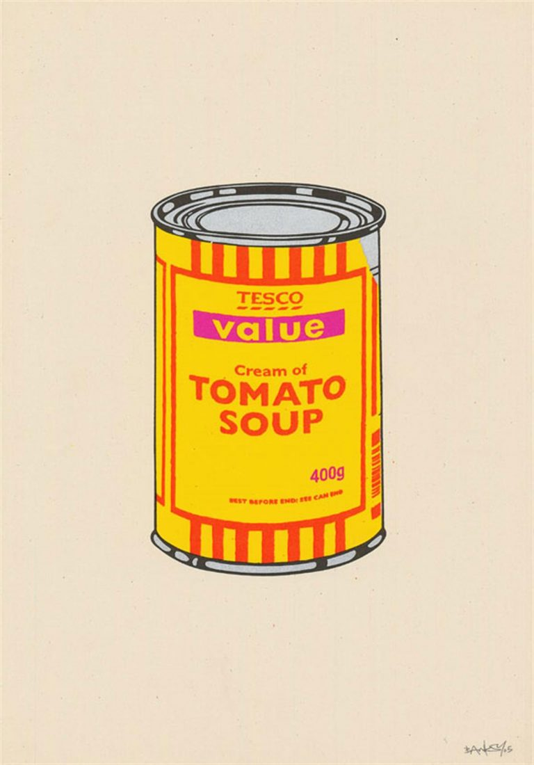 Soup Can (Banana/Orange/Hot Pink) By Banksy