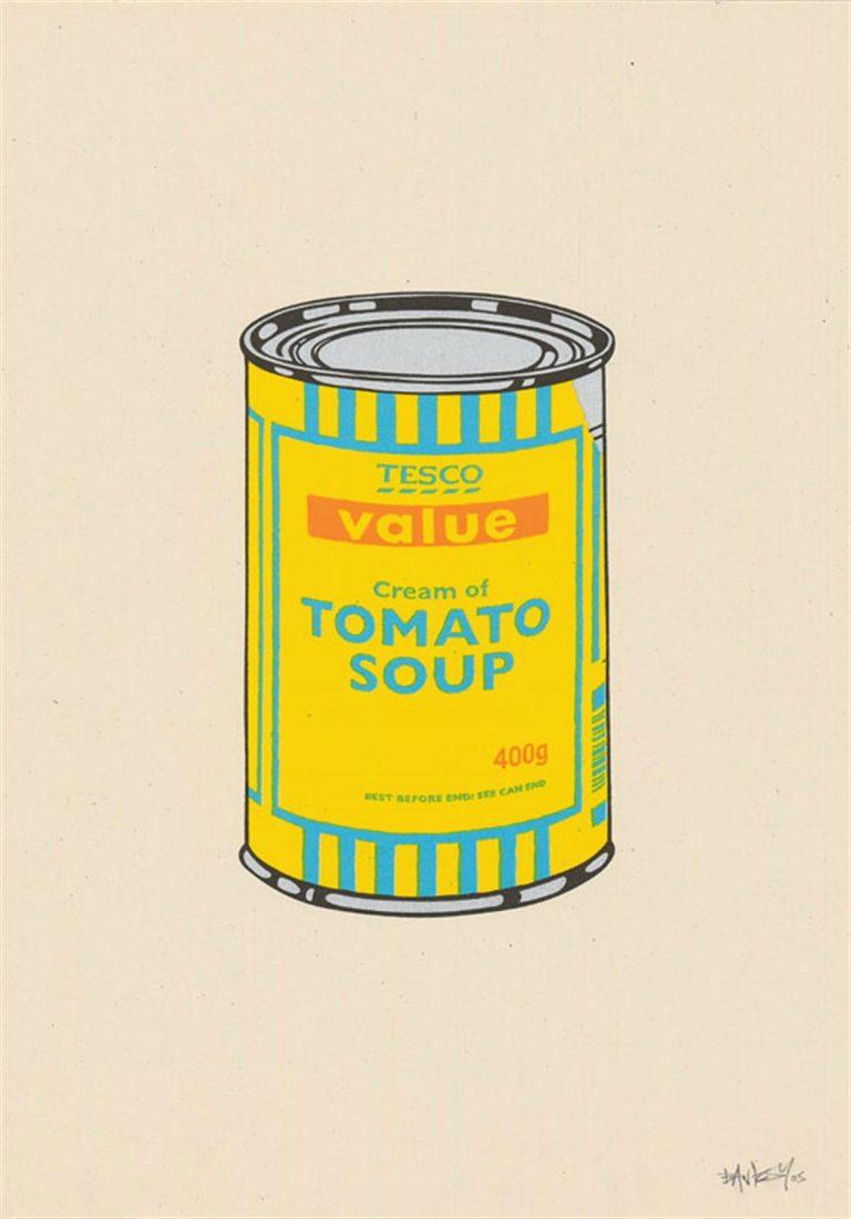 Soup Can (Yellow/Blue/Tan) by Banksy