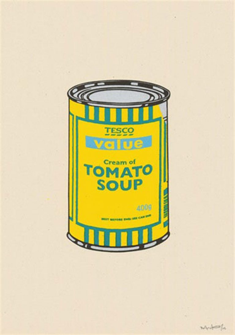 Soup Can (Yellow/Emerald/Sky Blue) by Banksy