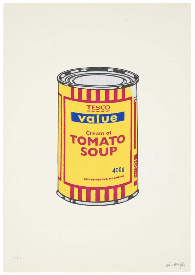 Soup Can (Banana/Cherry/Dark Blue) By Banksy