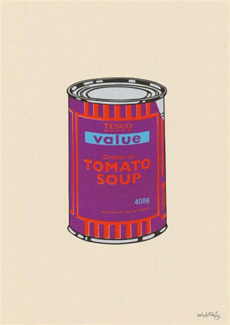 Soup Can (Purple/Orange/Blue) by Banksy