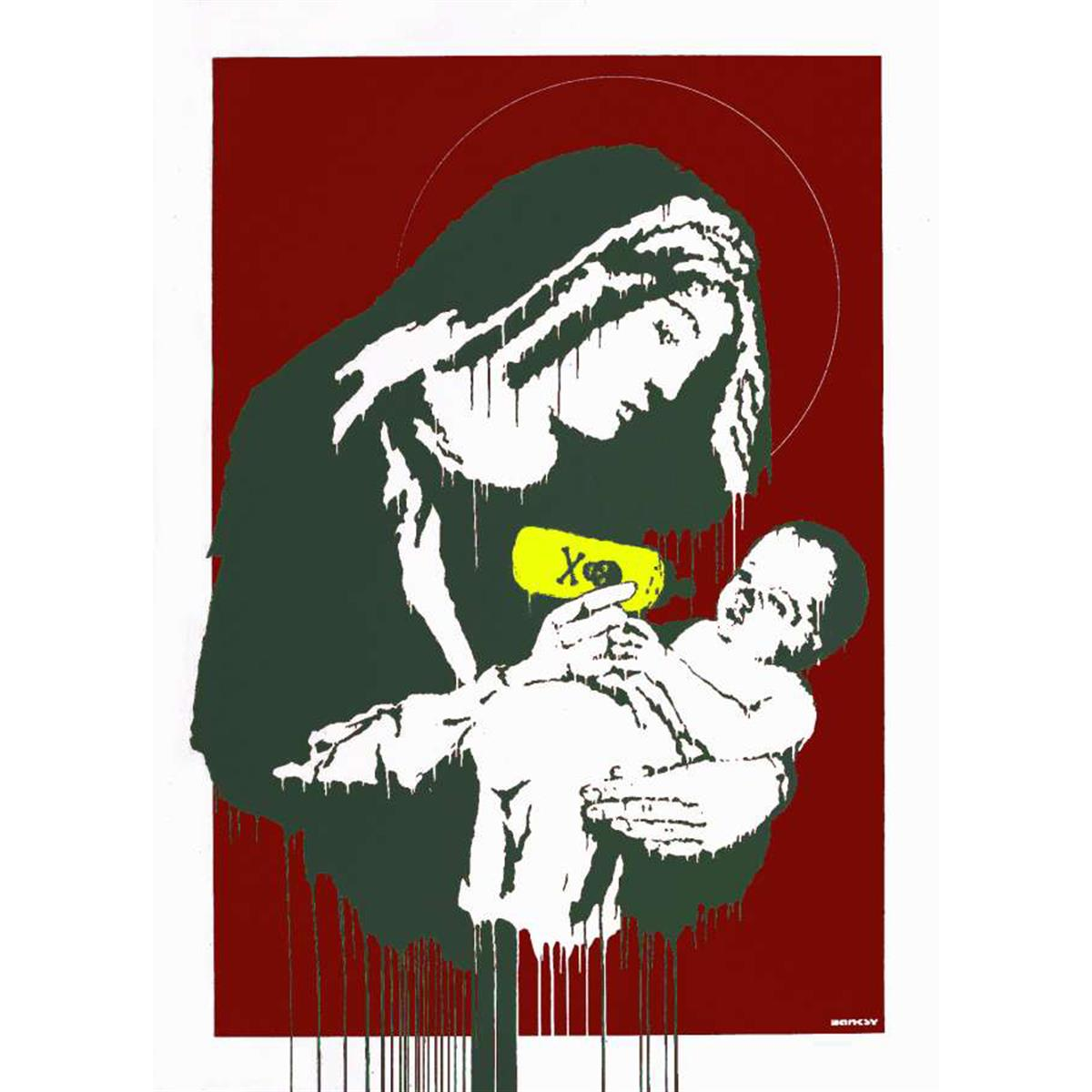 Toxic Mary (Red) by Banksy