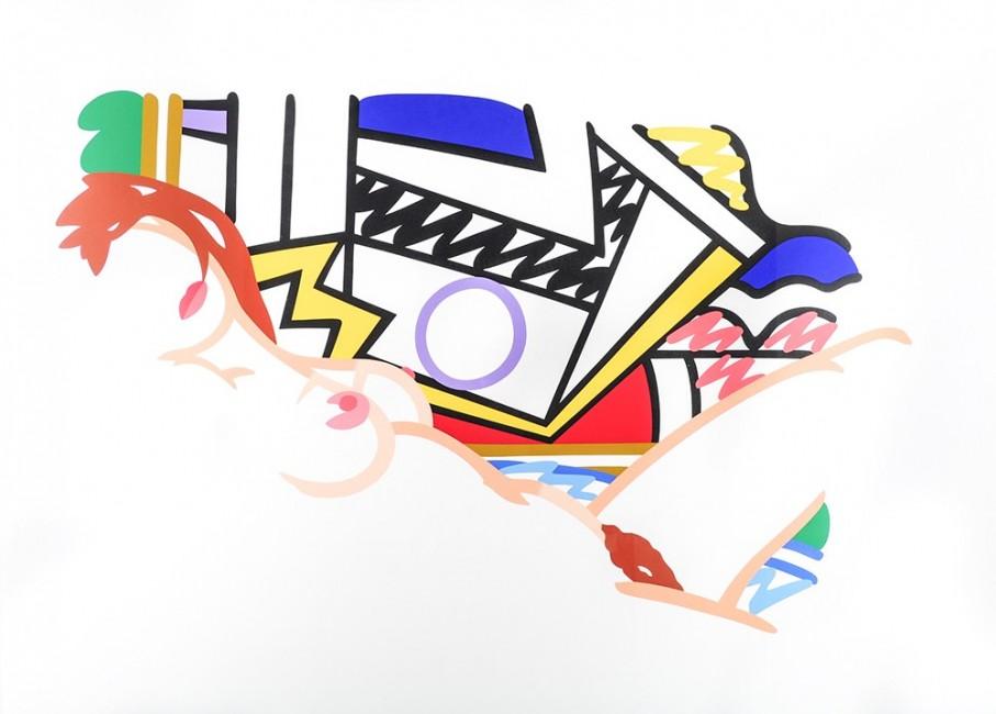 Monica With Lichtenstein by Tom Wesselman