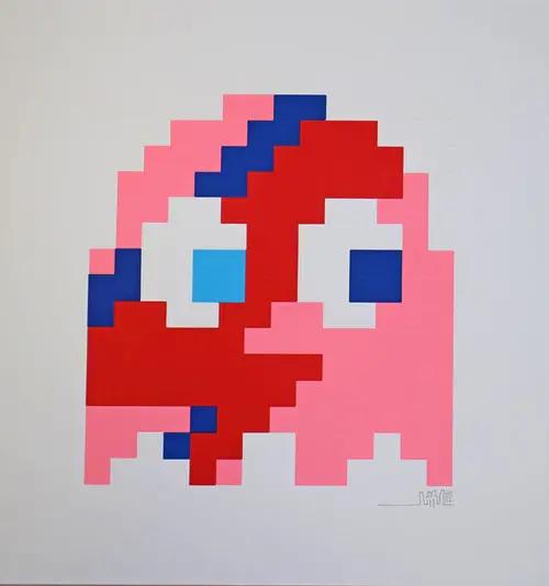 Aladdin Sane Clyde (Pink) By Invader