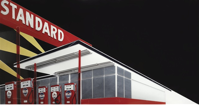 Vik Muniz Adter Ruscha Standard Station After Night From Pictures Of Cars
