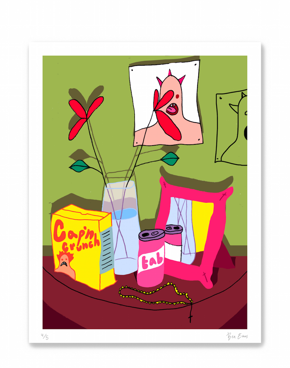 Still Life With Poster by Ben Evans