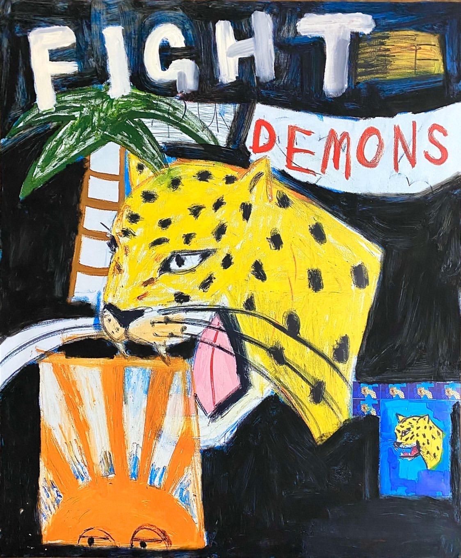 Fight Your Demons Black by Sidney Teodoruk