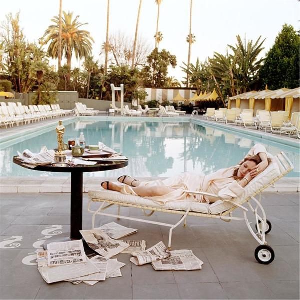 Faye Dunaway at the Pool by Terry O'Neill